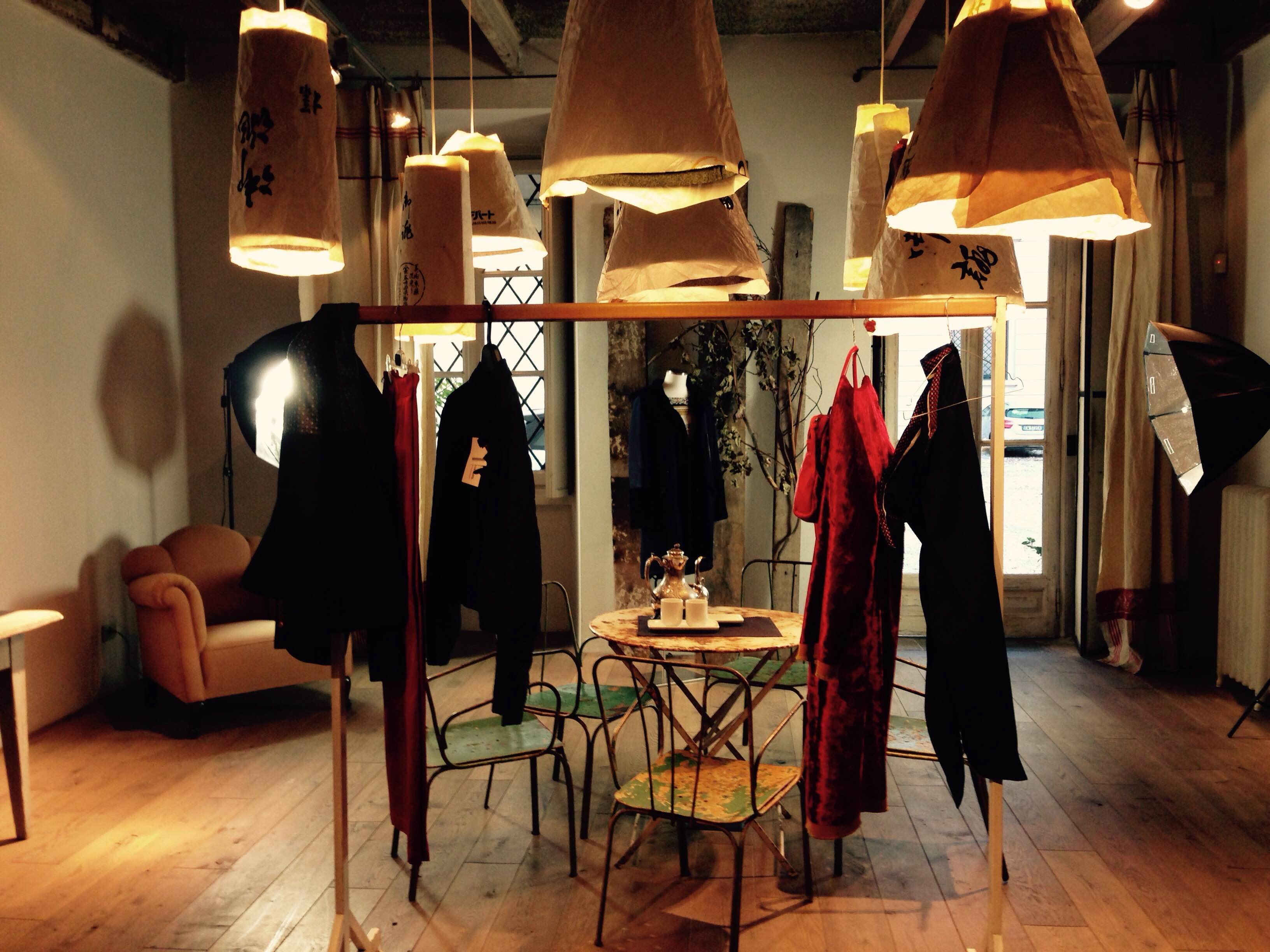 a fashion showroom in the city